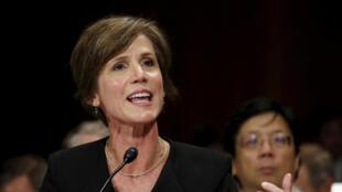 遭特朗普解職的代理司法部長薩莉•耶茨(Sally Yates)