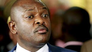 Burundi's President Pierre Nkurunziza addresses a news conference attended by the visiting United Nations Secretary-General Ban Ki-moon (not seen in picture) in the capital Bujumbura February 23, 2016.