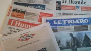 Primeiras páginas dos jornais franceses de 5 de janeiro de 2018