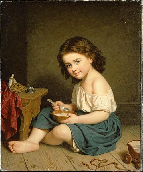 Frukosten , d' Amalia Lindegren (1866)