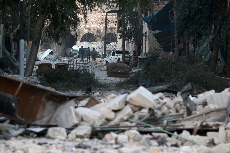 Aleppo trong khói lửa ngày 19/11/2016.