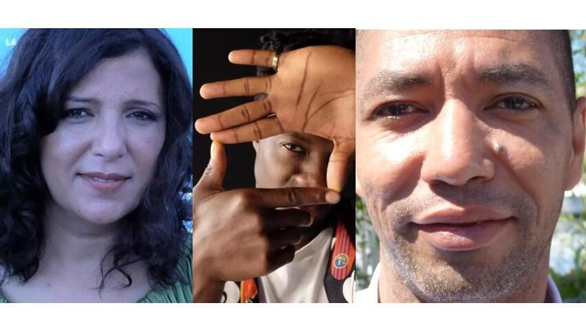 Kaouther Ben Hania (Tunisie), Anthony Nti (Belgique/Ghana) et Philippe Lacôte (Côte d'Ivoire) restent en lice pour les Oscars 2021.  © Siegfried Forster / RFI
