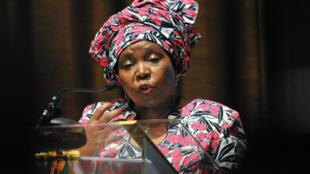 Nkosazana Dlamini-Zuma, présidente de la Commission de l'Union africaine, en mars 2013 en Côte d'Ivoire.