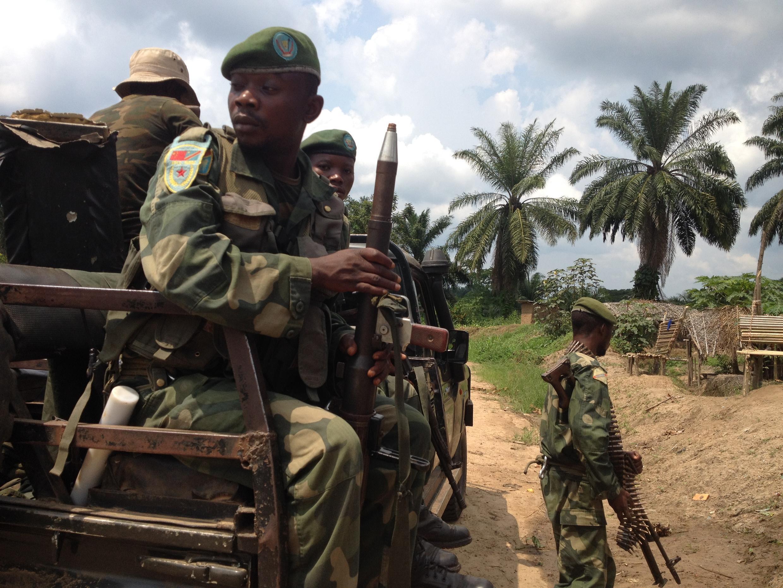 Membres des FARDC, juillet 2016.