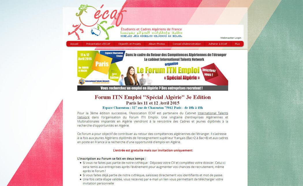 Le site du forum ITN emploi.