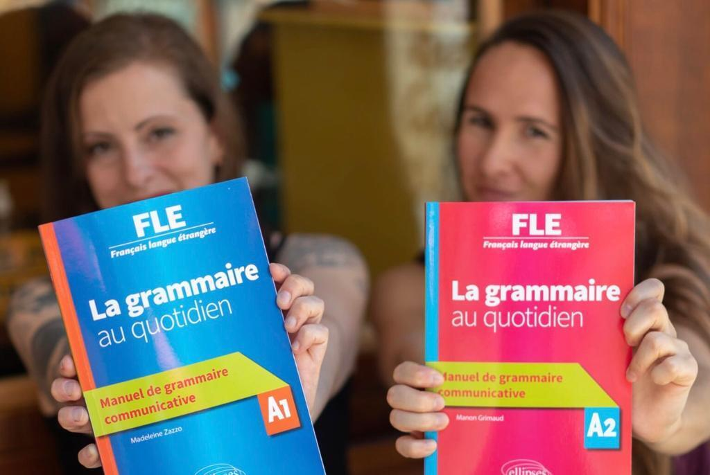 Madeleine Zazzo y Manon Grimaud, autoras de un manaual sobre gramática (« La grammaire au quotidien, manuel de grammaire communicative », ellipses, 2020).