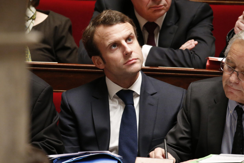 Economy minister Emmanuel Macron.