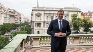 Le président serbe Aleksandar Vucic. Son parti, le Parti progressiste serbe est quasiment assuré de disposer d'une nouvelle majorité absolue au sein du futur Parlement.