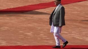 尼泊尔总理奥利K.P. Sharma Oli2018年4月7日新德里