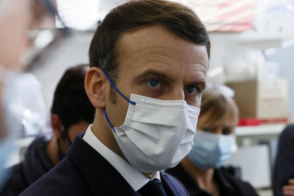 Macron anunciou para março centros de produção da vacina anti-Covid em França