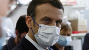 Emmanuel Macron à l'hôpital Necker-Paris
