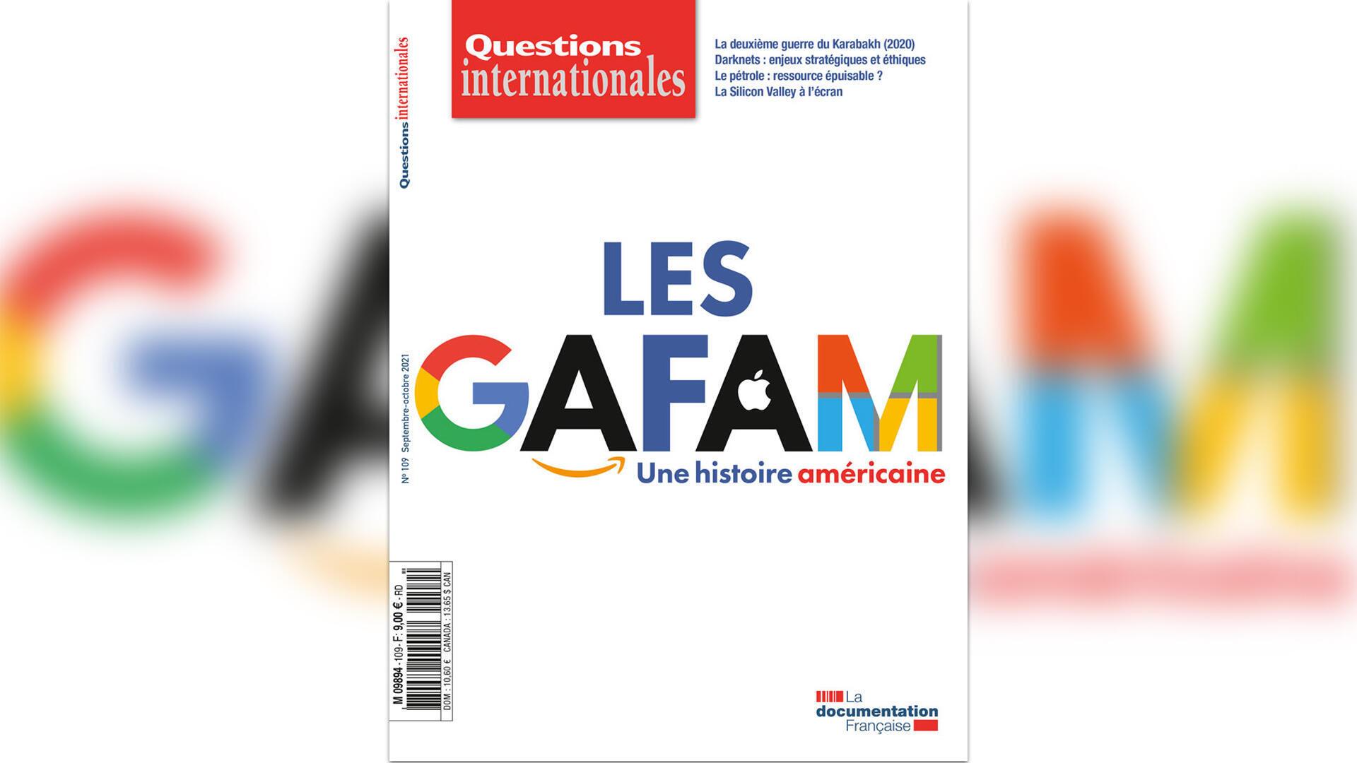 couverture questions internationales - Gafam - Géopolitique le débat