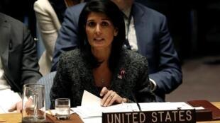 美國前駐聯合國大使妮基·黑利資料圖片