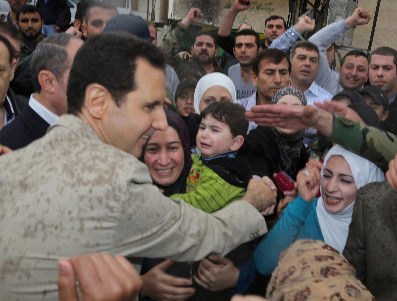 O presidente da Síria, Bachar al Assad, deve se candidatar para um novo mandato nas eleições de 3 de junho de 2014.s do poder, em 21 de abril de 2014.