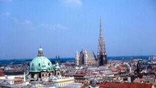 Vue aérienne du centre de Vienne, en Autriche.