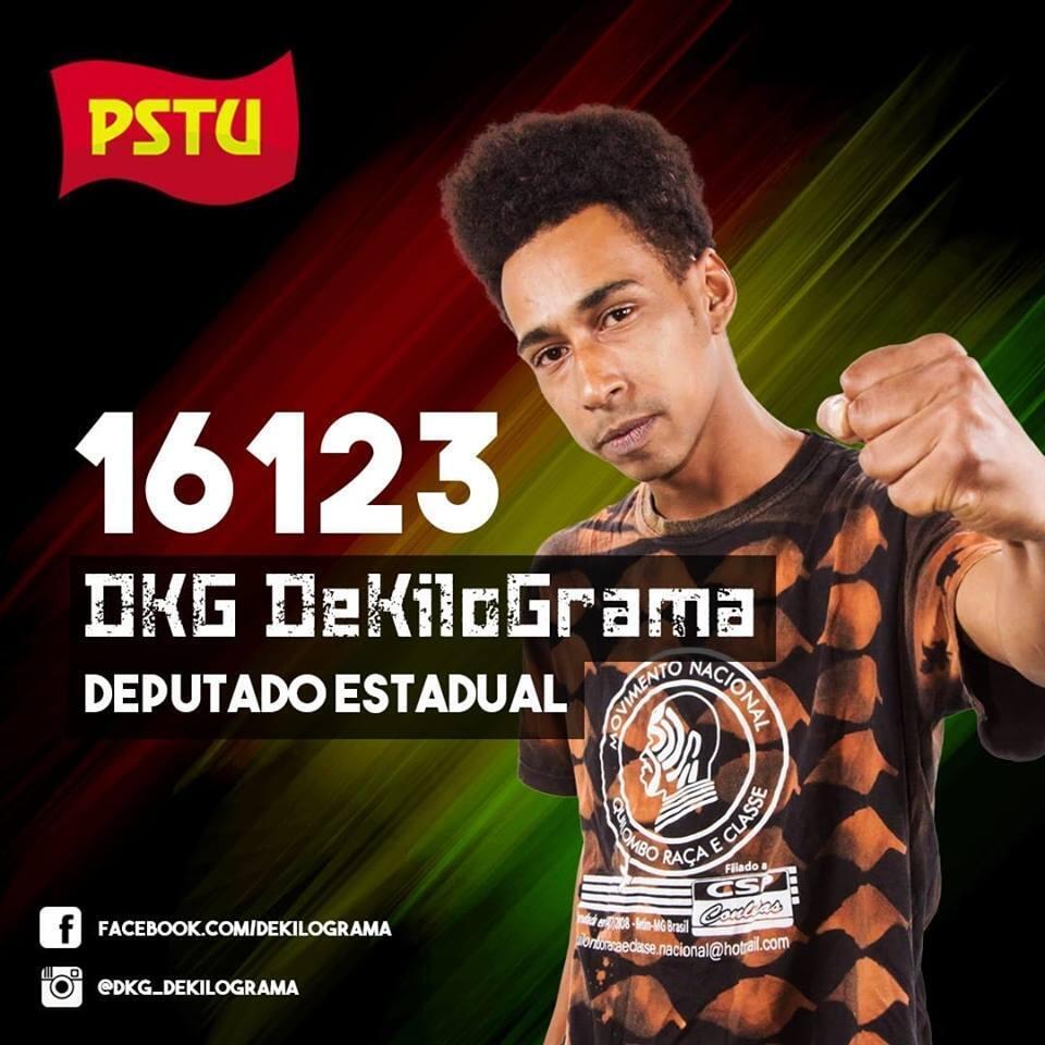 Daniel DKG DeKilograma é candidato a deputado estadual pelo PSTU em Santa Catarina