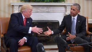 دیدار باراک اوباما و دونالد ترامپ در  کاخ سفید