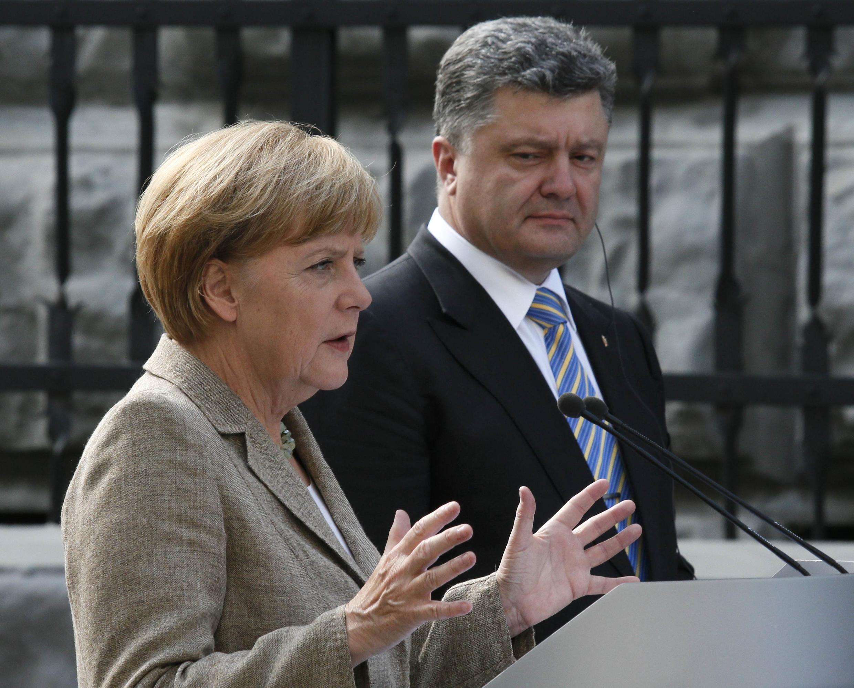 Совместная пресс-конференции Ангелы Меркель и Петра Порошенко, Киев, 23 августа 2014 г.