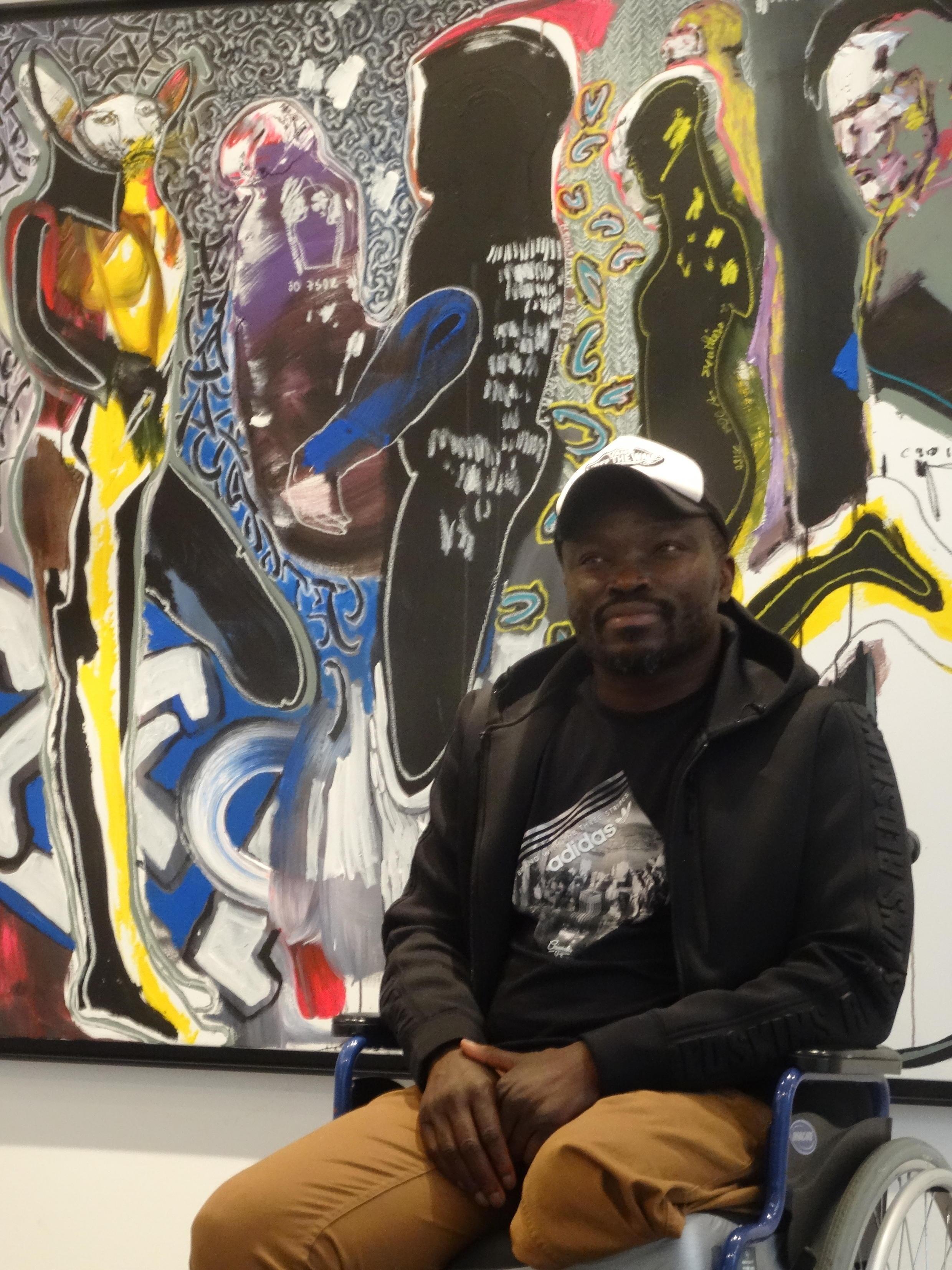 Le peintre sénégalais Soly Cissé, dont des oeuvres sont actuellement exposées à Paris.