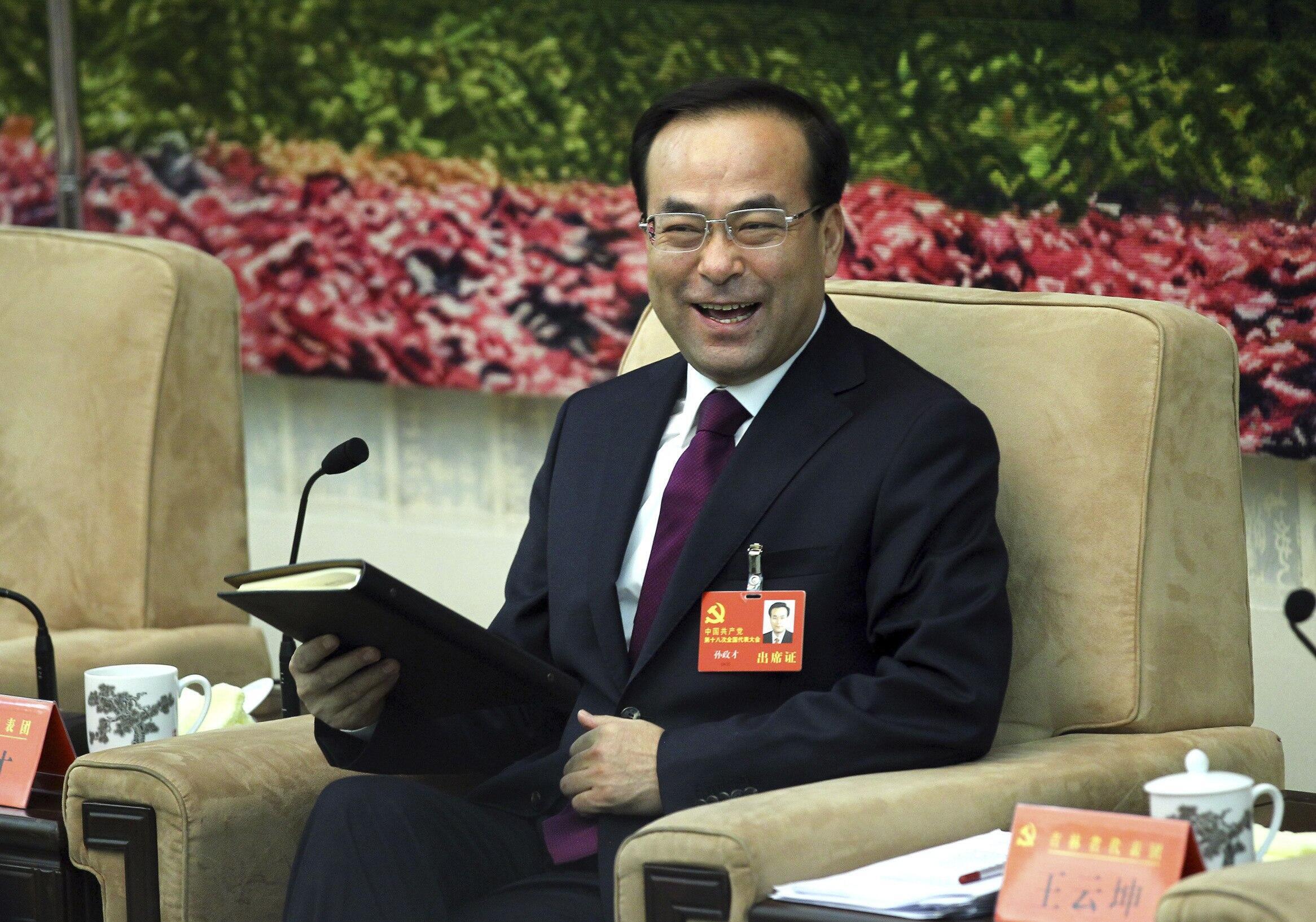 Sun Zhengcai lors du Congrès du PCC le 9 novembre 2012.