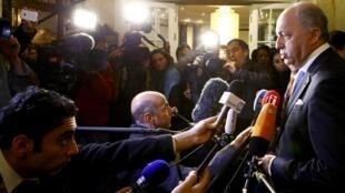 O ministro das Relações Exteriores francês Laurent Fabius nesta sexta, em Viena.