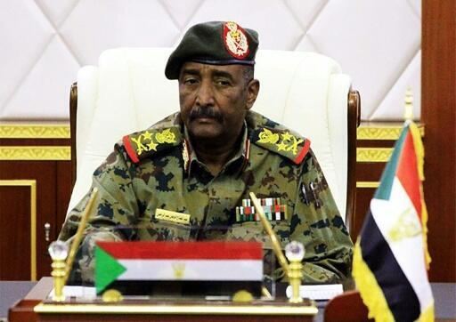 Lieutenant General Abdel Fattah al-Burhan, the chief of Sudan's ruling military council