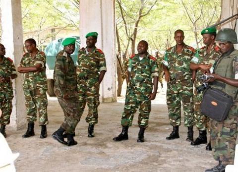 Wanajeshi wa Umoja wa Afrika kutoka Burundi mjini Bangui