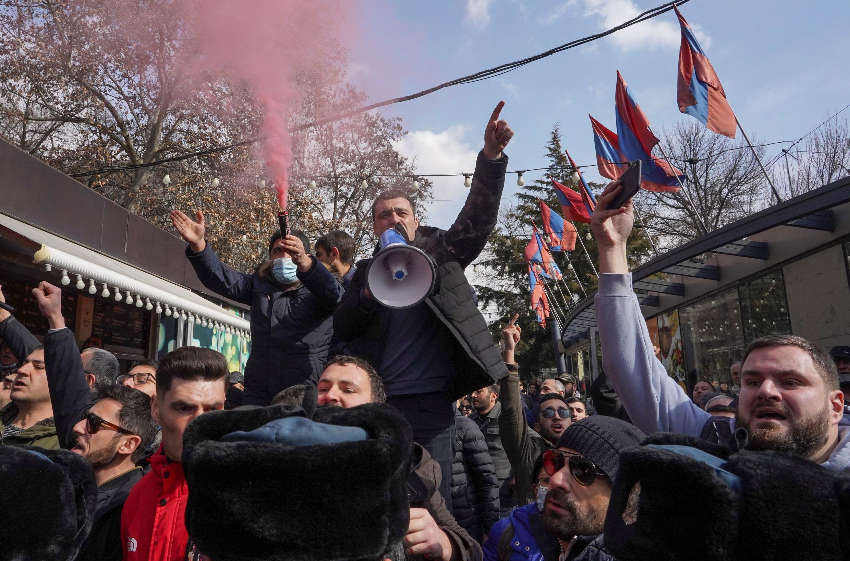 ARMENIe manifestations de l'opposition, 25/02/2021, à Erevan