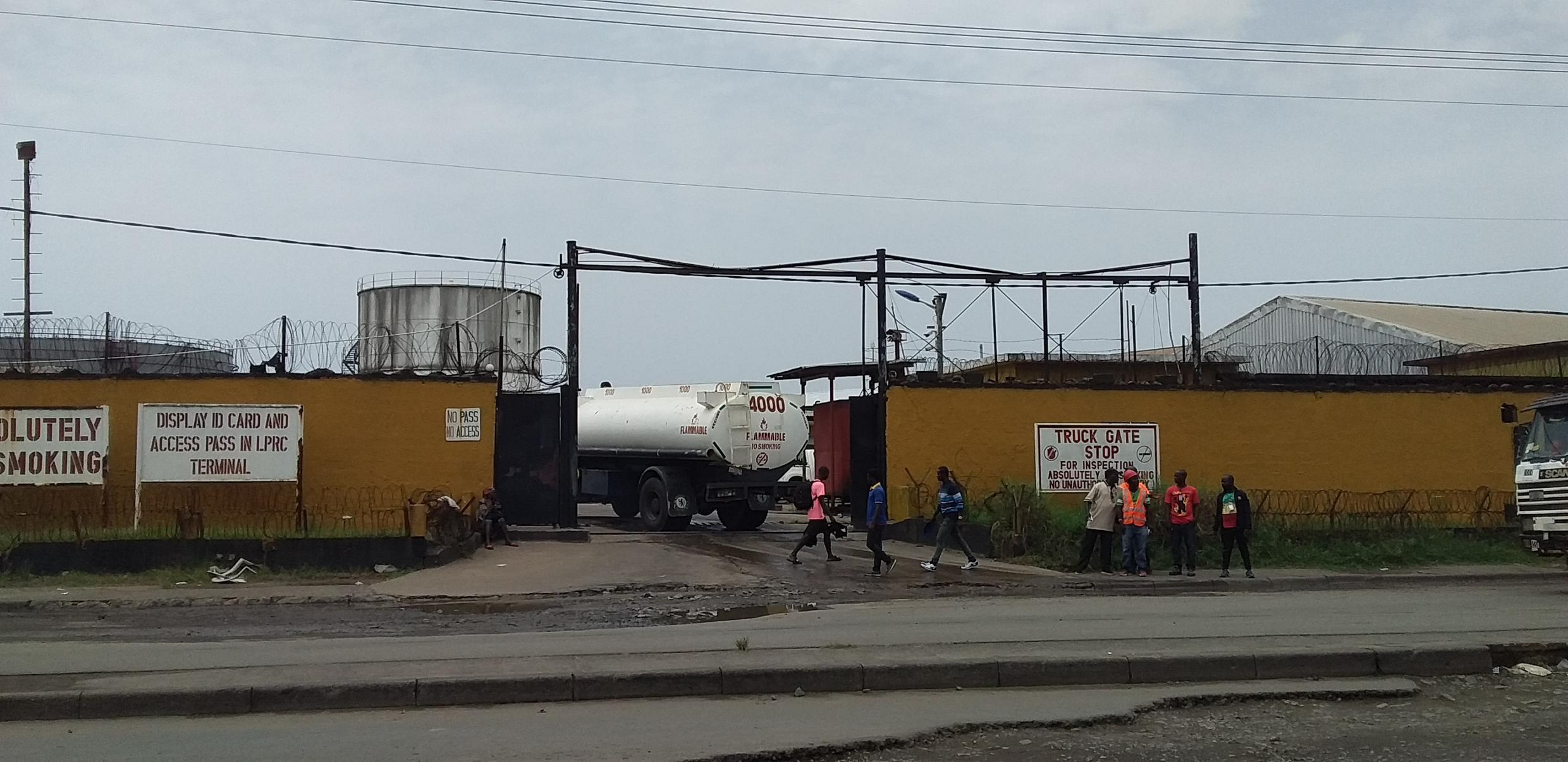 The headquarters for Liberia's Petroleum Refining Company (LPRC), a state-owned entity, in Monrovia, the capital.