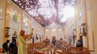 斯里兰卡遇袭教堂资料图片