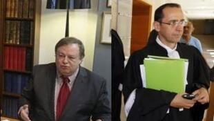 Адвокаты Мухтара Аблязова - Жан-Пьер Миньяр (Л) и Брюно Ребсток