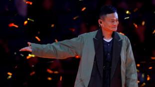 Jack Ma, numéro un du groupe chinois Alibaba, le 10 novembre 2017 à Shanghai pour le lacement de la journée des célibataires.