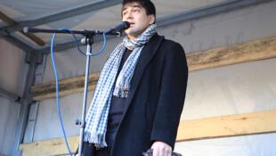 Сергей Давидис на митинге 24 декабря 2011 г.