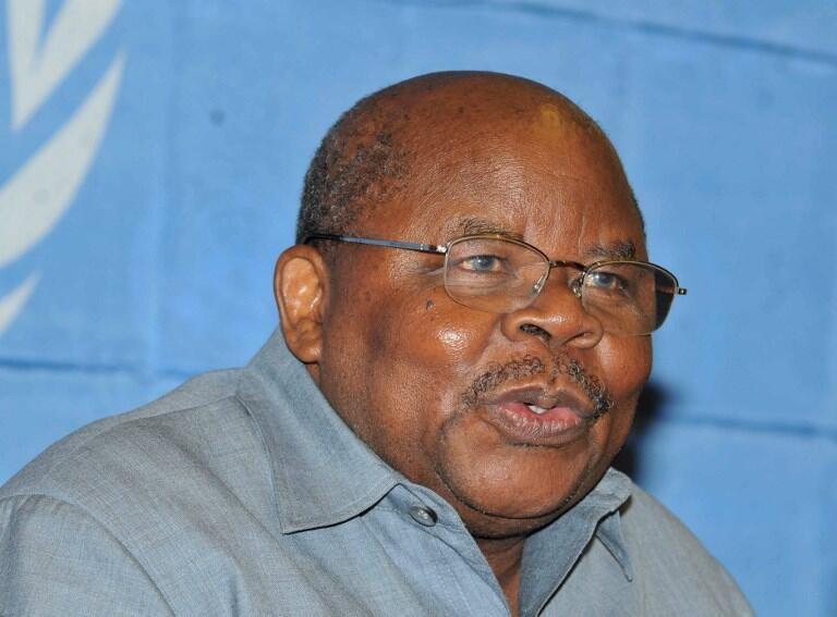 Benjamin Mpaka, ancien président tanzanien et jusqu'ici de l'EAC, cède sa place à l'issue du sommet d'Arusha, le 1er février 2019.