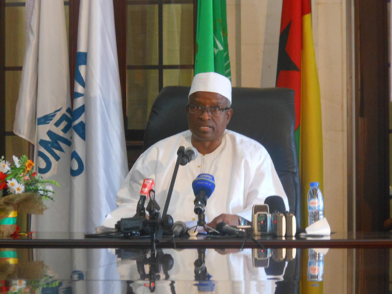 Presidente de transição da Guiné-Bissau, Serifo Nhamadjo.