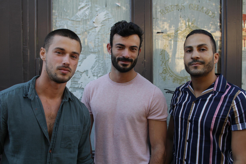 O francês Tommy com os amigos que o acompanharam ao carnaval do Rio de Janeiro