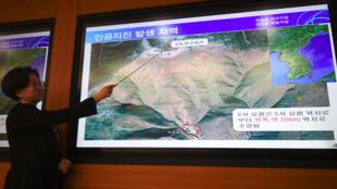 Sismólogo aponta epicentro do primeiro terremoto provocado pelo teste nuclear norte-coreano.