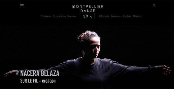 Nacera Belaza sur le fil-création.