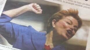 Campanha da cadidata Dilma Rousseff ganhou página inteira no jornal francês Libération.