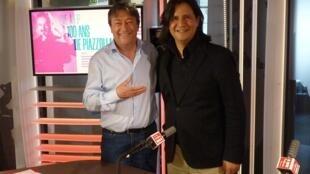Claudio Bohórquez y Jordi Batallé en RFI
