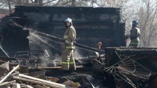 На месте сгоревшей Раменской больницы