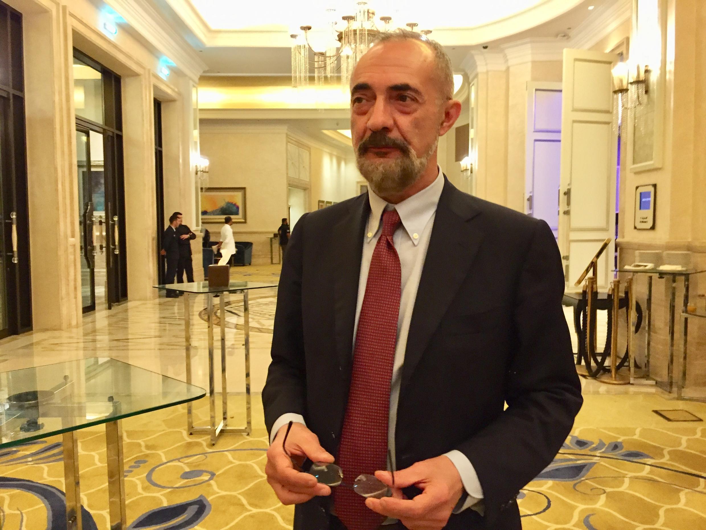 """O italiano Giuseppe Girotti, autor do livro """"Noi Fratelli"""" (""""Nós Irmãos"""", tradução livre)."""