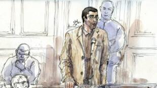 Адлен Ишёр на судебном процессе в Париже