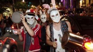 Biểu tình tại Montreal - Quebec (Canada) chống tăng học phí, 24/05/2012.