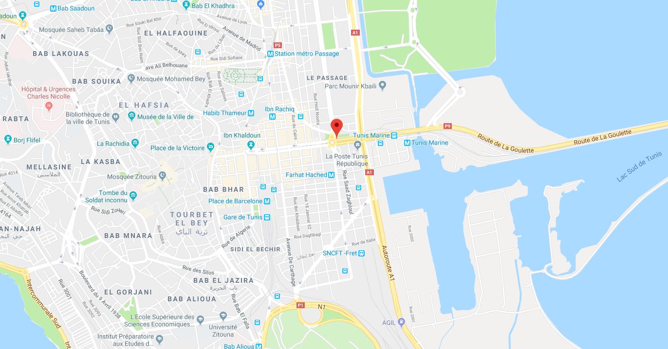L'avenue Bourguiba, dans le centre de Tunis, cible d'une attaque-suicide ce 27 juin 2019.