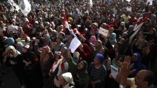 Une manifestation anti-Morsi sur la place Tahrir au Caire, le 17 mai 2013.