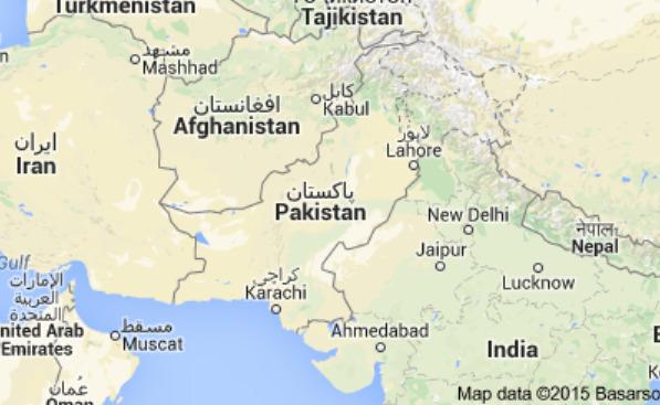 Carte Pakistan 巴基斯坦地圖