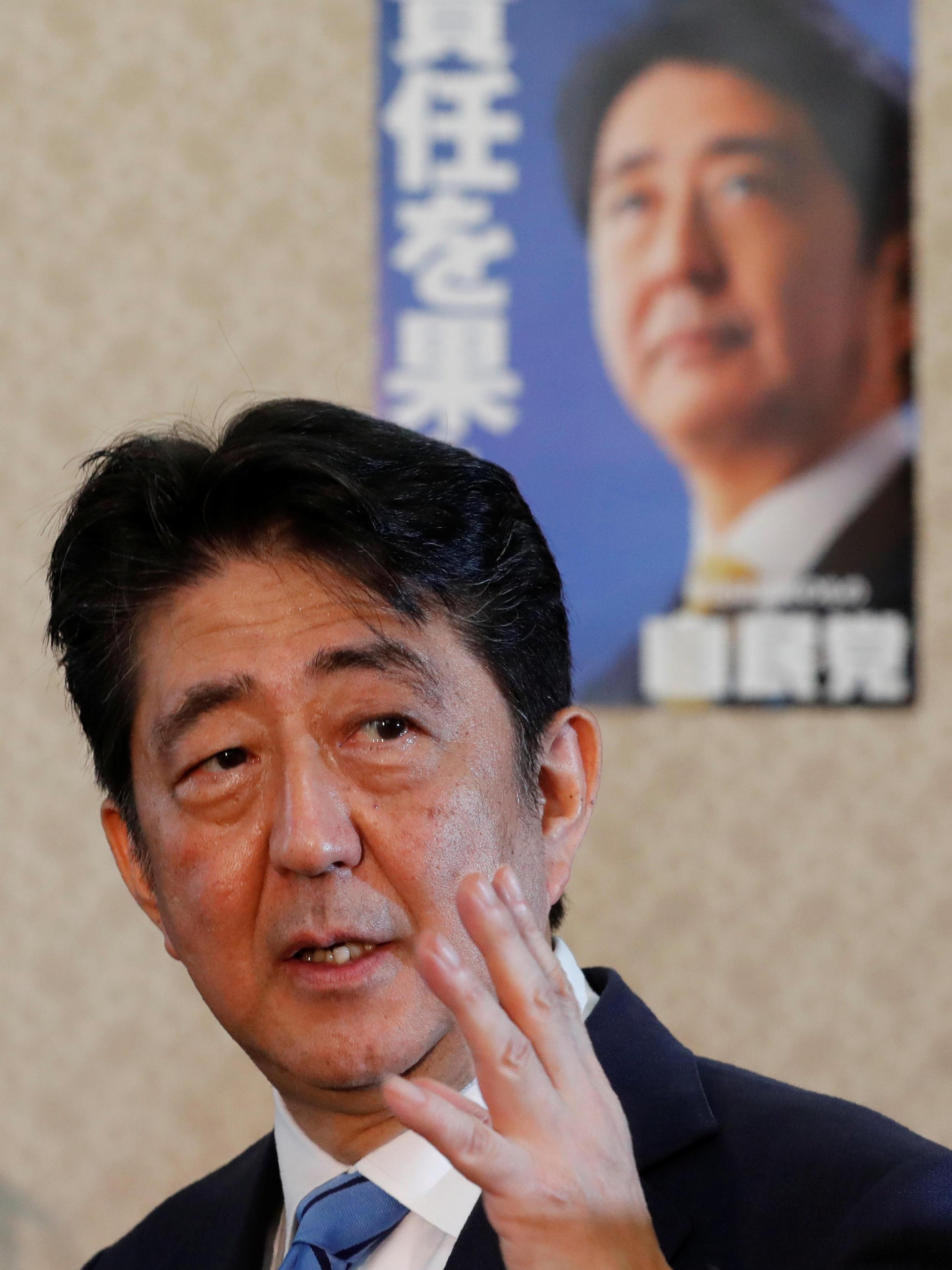 Shinzo Abe, primeiro-ministro japonês.