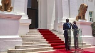 Allocution de l'ex-Premier ministre sénégalais Mahammed Boun Abdallah Dionne devant la présidence, mardi 5 septembre en début d'après-midi.