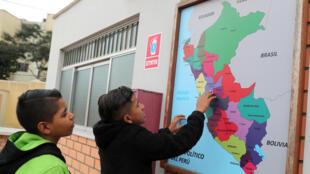 en Venezuela, para llegar a Lima, Perú, durante la inauguración de un refugio temporario en la capital peruana, el 24 de septiembre de 2018.